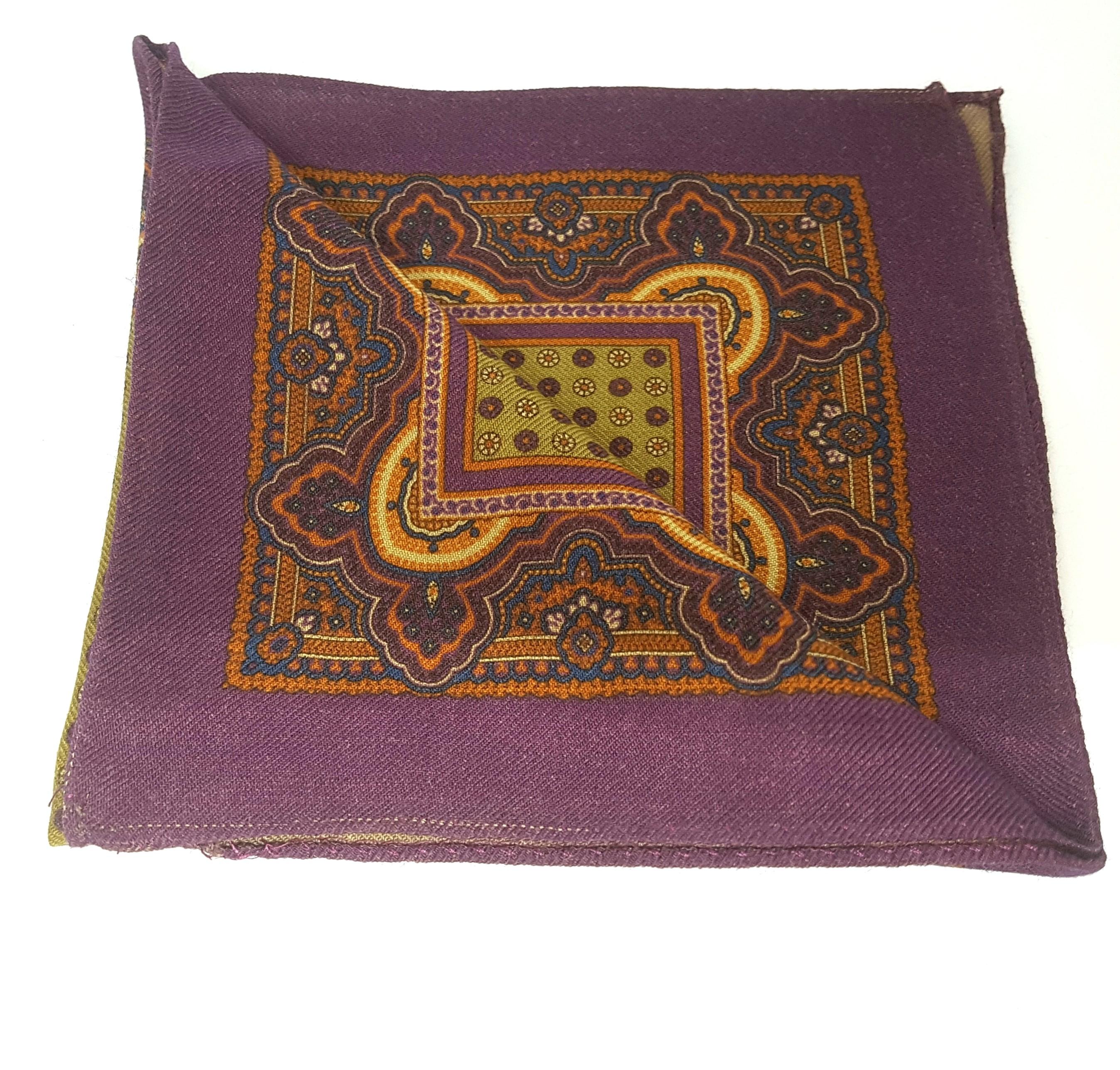 Pochette seta arabian pattern
