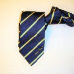 cravatta regimental con logo