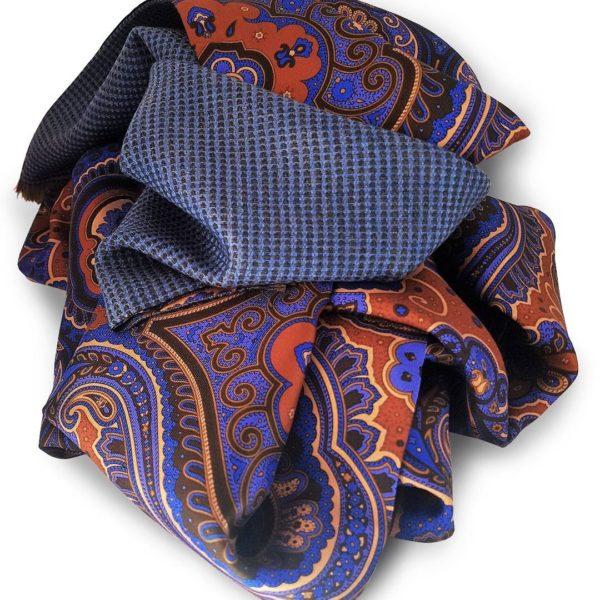 Sciarpa seta lana doppiata paisley