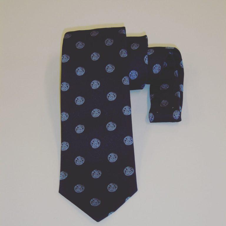 Cravatta seta personalizzata blu