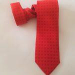 cravatta rossa stampata personalizzata